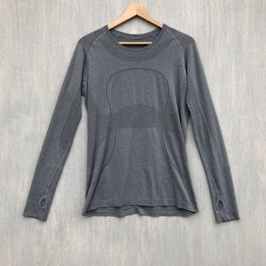 Lululemon swiftly tech long sleeve crew slate 12